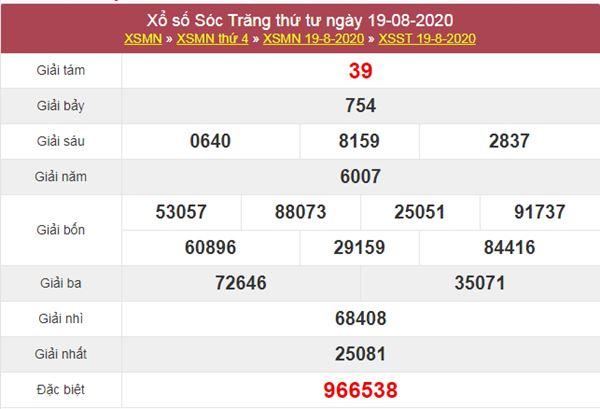 Soi cầu XSST 26/8/2020 chốt lô Sóc Trăng thứ 4 cực chuẩn