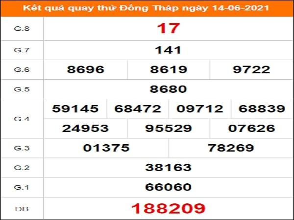 Quay thử xổ số Đồng Tháp ngày 14/6/2021