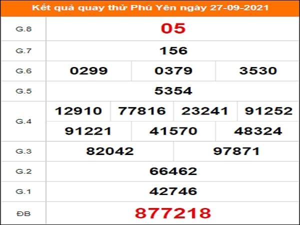 Quay thử xổ số Phú Yên ngày 27/9/2021 lấy hên
