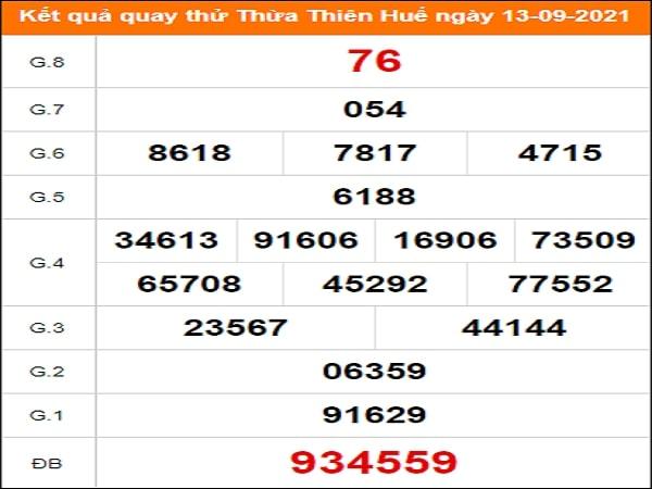 Quay thử xổ số Thừa Thiên Huế ngày 13/9/2021